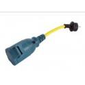 Adaptateur rallonge Adapter Cord 16A/250V Schuko/CEE