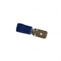 Cosse électrique Languette plate 6.3mm bleu en sachet de 5