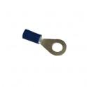 Cosse électrique isolée  ronde M6 bleu en sachet de 5