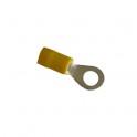 Cosse électrique à sertir ronde M6 Jaune en sachet de 5