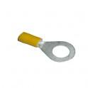 Cosse électrique à sertir isolée ronde M10 Jaune en sachet de 5
