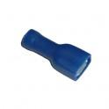 Cosse électrique plate isolée faston 6.3 mm Bleu en sachet de 5