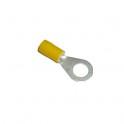 Cosse électrique isolée à sertir ronde M8 jaune en sachet de 5