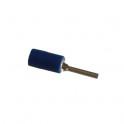Cosse électrique Isolée Pointe 12mm Bleu en sachet de 5