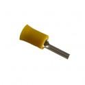 Cosse électrique Pointe 14.5mm jaune en sachet de 5