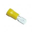 Cosse électrique Languette plate 6.3mm jaune en sachet de 5
