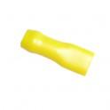 Cosse plate isolée faston 6.3 mm Jaune en sachet de 5