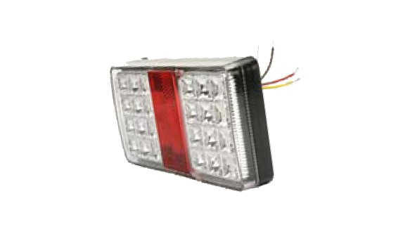 Feu remorque à LED transparant 12 et 24V