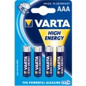 Blister de 4 Piles LR03 AAA VARTA HIGH ENERGY