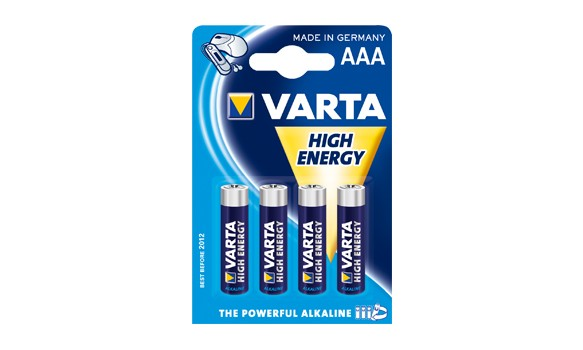 Blister de 4 Piles LR03 AAA VARTA HIGH ENERGY
