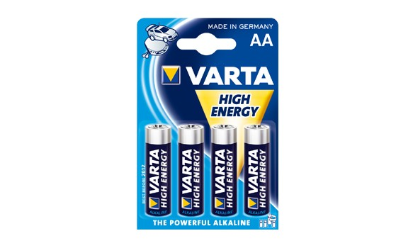 Blister de 4 Piles LR06  AA VARTA HIGH ENERGY